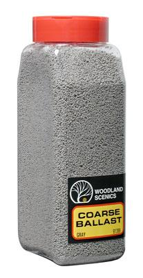 Woodland Scenics Ballast -- Coarse (Gray) 32 oz -- Model Railroad Ballast -- #b1389