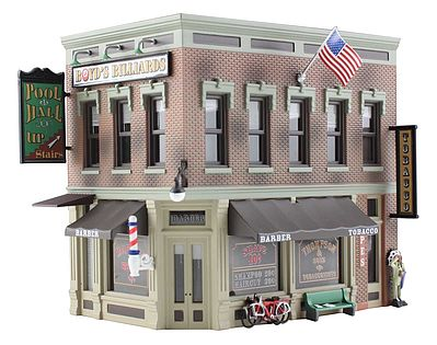 Woodland Scenics Built-N-Ready -- Corner Emporium 2-Story Building -- N Scale Model Railroad Building -- #br4923