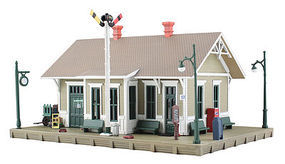 Woodland Dansbury Depot N Scale Model Railroad Building #br4928