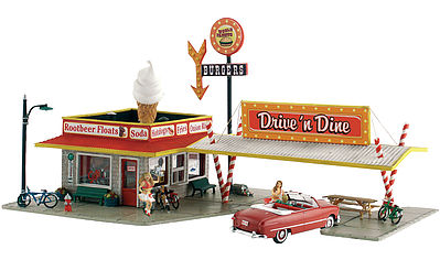 Woodland Scenics Drive N Dine -- N Scale Model Railroad Building -- #br4929