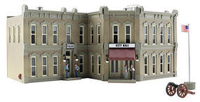 Woodland Municipal Building N Scale Model Railroad Building #br4930