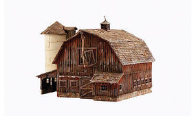 Woodland Old Weathered Barn N Scale Model Railroad Building #br4932