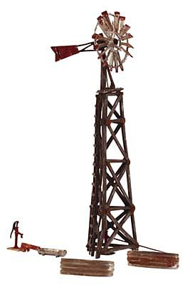 Woodland Scenics Old Windmill -- N Scale Model Railroad Trackside Accessory -- #br4936