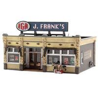 Woodland J. Franks Grocery N Scale Model Railroad Building #br4941