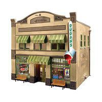Woodland Dugans Paint Store Built & Ready N Scale Model Railroad Building #br4943