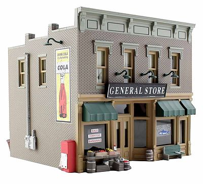 Woodland Scenics Built & Ready -- Lubener's General Store -- HO Scale Model Railroad Building -- #br5021