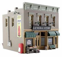Woodland Built & Ready Lubener's General Store HO Scale Model Railroad Building #br5021