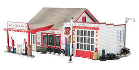 Woodland Built & Ready FillR Up & FixR HO Scale Model Railroad Building #br5025