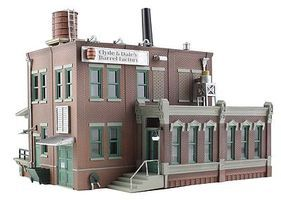 Woodland Clyde/Dales Barrel Factory HO Scale Model Railroad Building #br5026