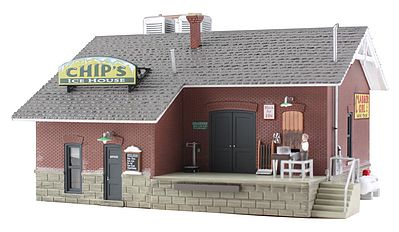 Woodland Chips Ice House HO Scale Model Railroad Building #br5028