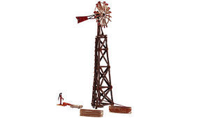Woodland Old Windmill Built-&-Ready(R) HO Scale Model Railroad Building Accessory #br5042