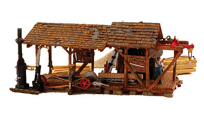 Woodland Buzzs Sawmill HO Scale Model Railroad Building #br5044