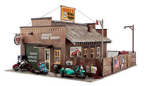 Woodland Built-N-Ready Deuces Cycle Shop HO Scale Model Railroad Building #br5045