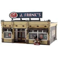 Woodland J. Franks Grocery HO Scale Model Railroad Building #br5050