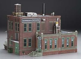 Woodland Morrison Door Factory O Scale Model Railroad Building #br5848