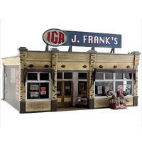 Woodland J. Frankss Grocery O Scale Model Railroad Building #br5851