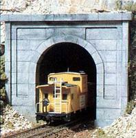 Woodland Concrete Single Portals (2) N Scale Model Railroad Tunnel #c1152