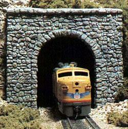 Woodland Random Stone Single Portal (2) N Scale Model Railroad Tunnel #c1155