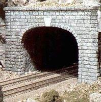 Woodland Cut Stone Double Portals (2) N Scale Model Railroad Tunnel #c1157