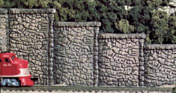 Train Scenery 6 Woodland Scenics C1161 N/HO Random Stone Retaining Walls