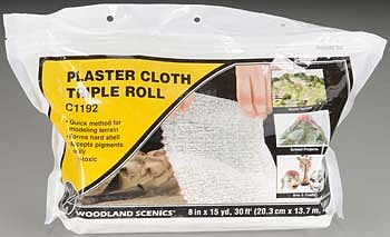 Woodland Scenics Plaster Cloth Triple Roll -- 8'' x 30' -- Model Railroad Mold Accessory -- #c1192