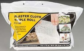 Woodland Plaster Cloth Triple Roll 8 x 30 Model Railroad Mold Accessory #c1192