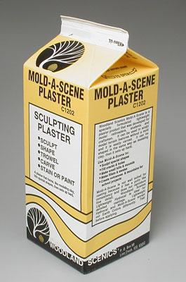 Woodland Scenics Mold-A-Scene Plaster -- 1/2 Gallon -- Model Railroad Mold Accessory -- #c1202