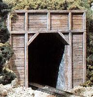 Timber Single Portal HO Scale Model Railroad Tunnel #c1254