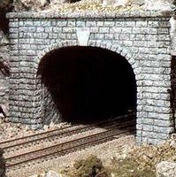 Woodland Cut Stone Double Portal HO Scale Model Railroad Tunnel #c1257