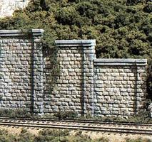 Woodland Cut Stone Wing Wall (3) HO Scale Model Railroad Miscellaneous Scenery #c1259
