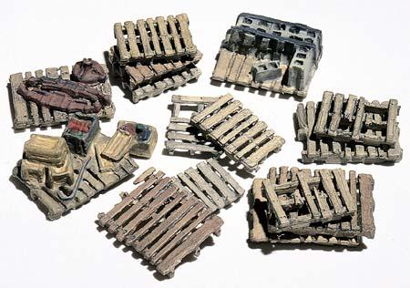 Woodland Assorted Skids (15) HO Scale Model Railroad Building Accessory #d204