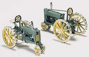 Woodland John Deere 1930s Tractors (2) Kit HO Scale Model Railroad Vehicle #d211
