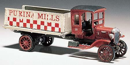 Woodland Scenics Scenic Detail Grain Truck (1914 Diamond T) -- HO Scale Model Railroad Vehicle -- #d218