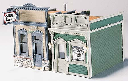 Woodland Scenic Details Doctors Office & Shoe Repair Kit HO Scale Model Railroad Building #d224