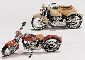 Woodland Motorcycles & Sidecar Kit HO Scale Model Railroad Vehicle #d228