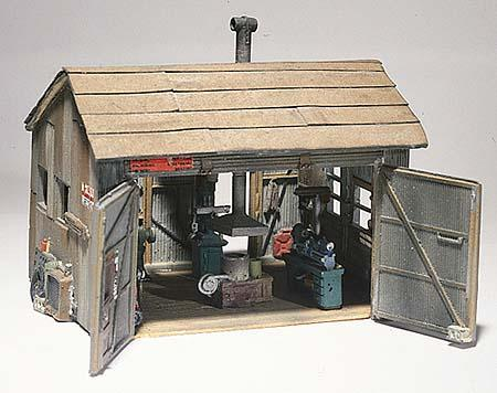 Woodland Tucker Brothers Machine Shop HO Scale HO Scale Model Railroad Building #d240