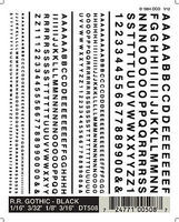Woodland RR Gothic Decals Black 1/16 - 3/16 Model Railroad Decal #dt508