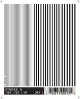 Woodland Black Stripes 1/64 - 3/16 Model Railroad Decal #dt513