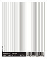 Woodland White Stripes 1/64 - 3/16 Model Railroad Decal #dt514