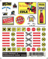 Woodland Road/Product/Burmashave Signs Model Railroad Decal #dt555