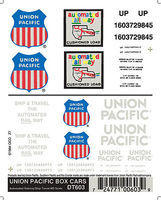 Woodland Union Pacific Boxcar Decals HO Scale Model Railroad Decal #dt603