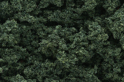 Woodland Scenics Clump Foliage -- Dark Green -- Model Railroad Grass Earth -- #fc684