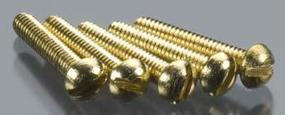 Woodland Round Head Screws 2-56 1/2 (5) (bulk of 3) Model Railroad Scratch Supply #h816