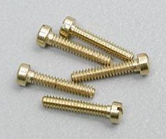 Woodland Hob-Bit- Fillister Head Screws 00-90 1/4 (5) (Bulk of 3) Model Railroad Scratch Supply #h822