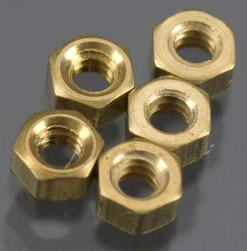 Woodland Scenics (bulk of 3) Hex Nuts 0-80 (5) (Bulk of 3) -- Model Railroad Scratch Supply -- #h882