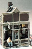 Woodland Floyds Barber Shop HO Scale Kit HO Scale Model Railroad Building #m111