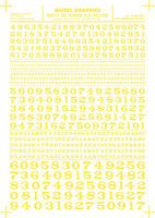 Woodland Roman R.R. Numbers Yellow 1/16 - 5/16 Model Railroad Decal #mg711