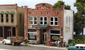 Woodland Pre-Fab Building Planters Feed & Seed Supply HO HO Scale Model Railroad Building #pf5181