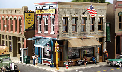 Woodland Pre-Fab Building Main Street Mercantile HO Scale HO Scale Model Railroad Building #pf5182