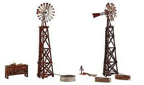 Woodland Pre-Fab Windmills HO Scale HO Scale Model Railroad Trackside Accessory #pf5192